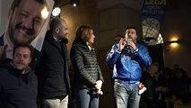 """Reggio Emilia - Matteo Salvini in piazza """"L'Emilia Romagna darà rispetto a chi porta rispetto"""""""