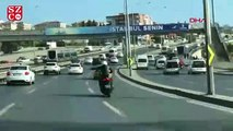 Motosikletle makas atarken bile dans eden maganda kamerada