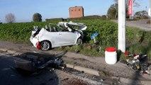 Ath accident chaussée de Tournai 3 blesses 10.11.2019