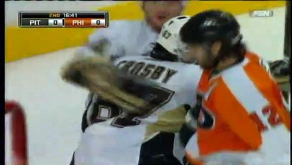 NHL 2009 Conference QF - Pittsburgh Penguins vs Philadelphia Flyers - Game #4 Highlights