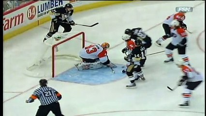 NHL 2009 Conference QF - Pittsburgh Penguins vs Philadelphia Flyers - Game #1 Highlights