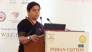 Indian cotton yarn industry took a hit due to US-China trade war:  Smriti Irani