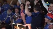 Fed Cup 2019 - Les Bleues de France championnes du monde avec leurs supporters à Perth en Australie