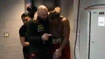 KSI celebrating in his dressing room after def. Logan paul   Postgame Interview highlights ksi vs Logan paul 2 fight