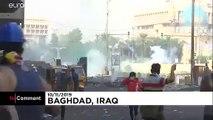 شاهد: يوميات الغضب العراقي.. اشتباكات وسط بغداد بين المتظاهرين وقوات الأمن