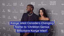 Kanye West Wants This Name