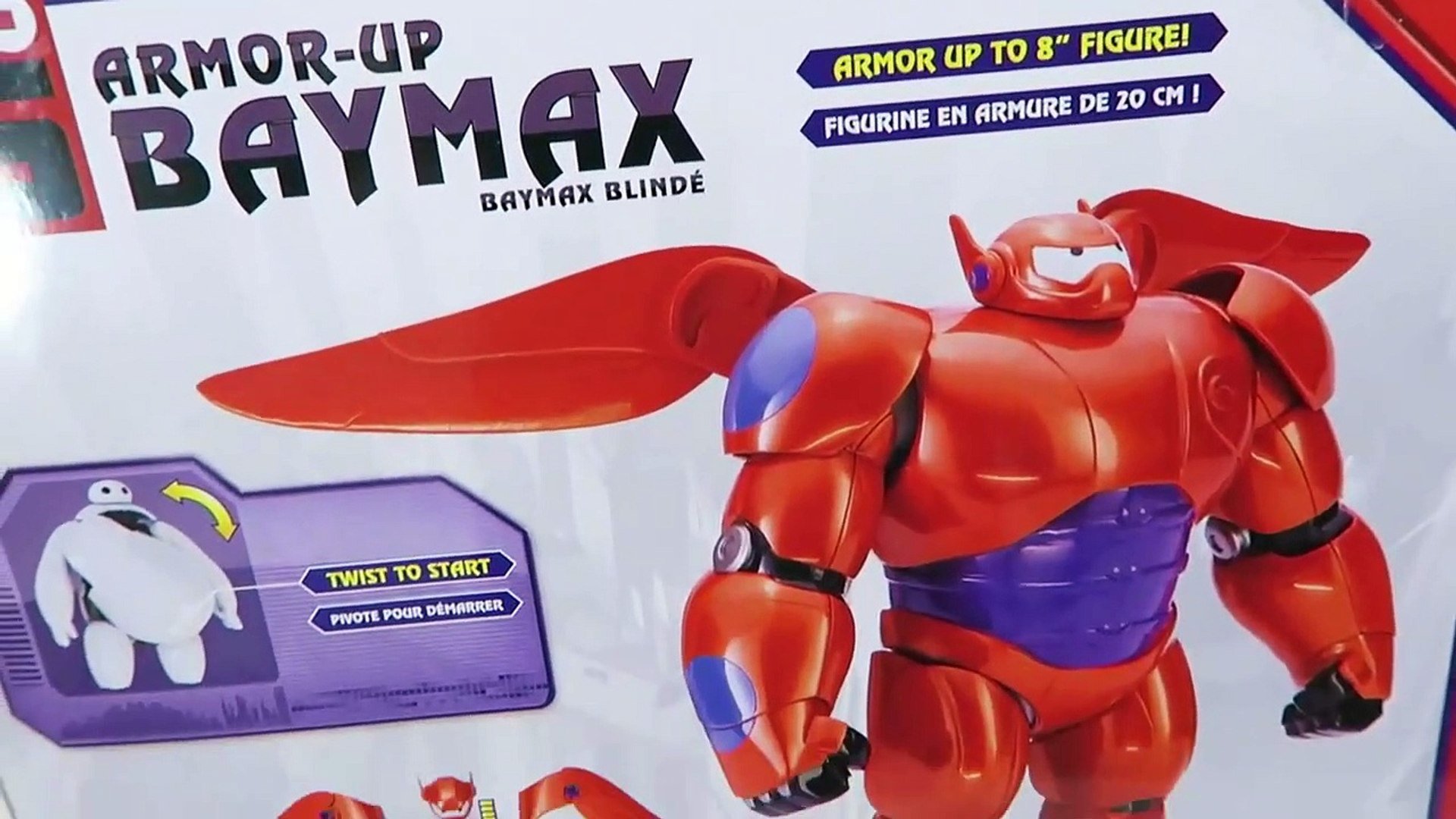 Baymax Armor Up Action Figure Disney Big Hero 6 Playset Video Dailymotion
