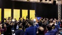 Gabriel Rufián y la cúpula de ERC celebran su victoria en Cataluña