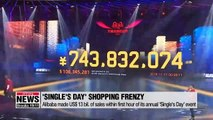 Alibaba says Singles' Day sales hit 91.2 billion yuan in first hour