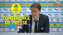 Conférence de presse Olympique de Marseille - Olympique Lyonnais (2-1) : André VILLAS BOAS (OM) - Rudi GARCIA (OL) / 2019-20
