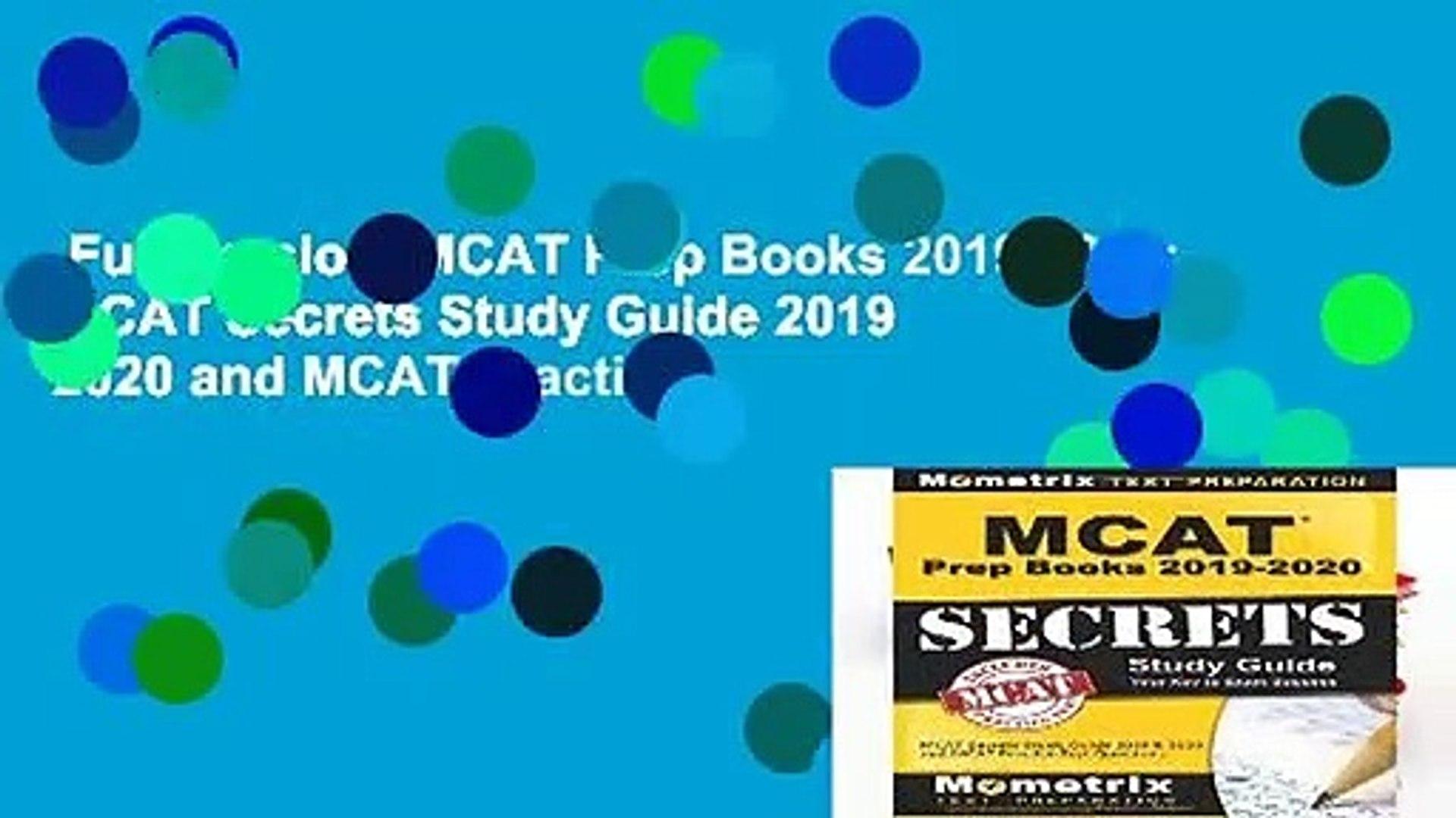 Full Version  MCAT Prep Books 2019-2020: MCAT Secrets Study Guide 2019   2020 and MCAT Practice