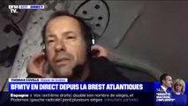 """Thomas Coville, en direct depuis la Brest Atlantiques: """"La chose la plus difficile à gérer, c'est le niveau de concentration"""""""