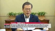 Korea faces historic task of building new order of peace through dialogue: Moon