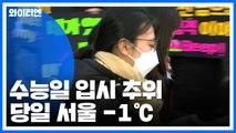 """[날씨] 수능일 입시 추위, 서울 -1℃...""""황사도 온다"""" / YTN"""