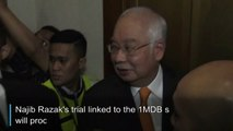 First 1MDB trial for Malaysia's ex-PM Najib to proceed