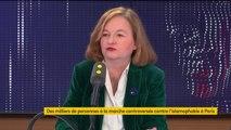 """Étoile jaune dans la manifestation contre l'islamophobie : """"Ça me choque profondément"""". L'eurodéputée Nathalie Loiseau dénonce une """"relativisme scandaleux""""  et insiste sur la """"laïcité française salutaire"""""""
