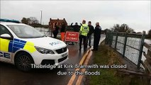 Bridge closed because of Doncaster flooding