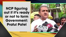 NCP figuring out if it's ready or not to form Government: Praful Patel