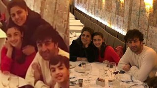 Alia Bhatt goes on dinner with Ranbir Kapoor with his Mother Neetu Kapoor,Check out | FilmiBeat