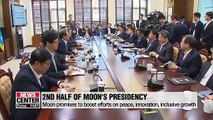 Moon promise to boost efforts for peace, innovative and inclusive growth in 2nd half of his term