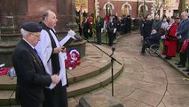 Boris Johnson attends Armistice Day service in Wolverhampton