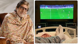 Amitabh Bachchan shares photo of watching Premier League while on bed rest |FilmiBeat