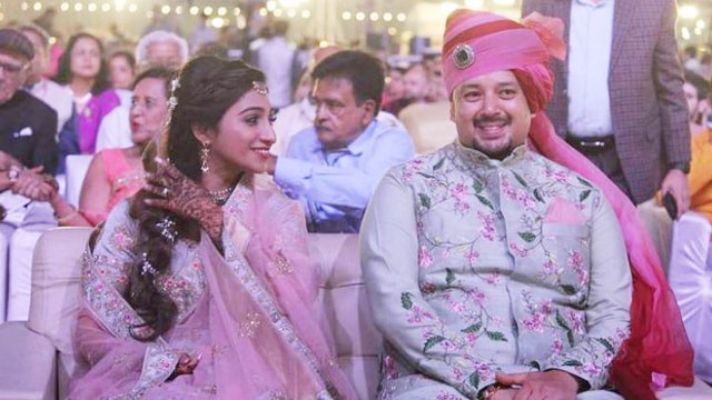 Mohena Kumari & husband Suyash throws grand wedding reception in Rewa |FilmiBeat