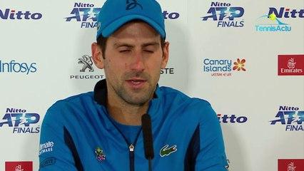 Masters de Londres 2019 - Novak Djokovic annoyed after losing to Dominic Thiem