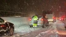 Starke Schneefälle in Teilen Österreichs