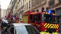Marseille : incendie en cours dans un appartement rue Balthazar Dieudé (1er)