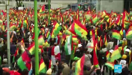 Bolivians react to the resignation of President Evo Morales