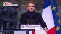 """Emmanuel Macron: """"Parce qu'il le faut nous continuerons, aujourd'hui comme hier, à défendre nos valeurs et à combattre nos ennemis"""""""