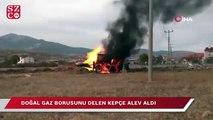 Gediz'de doğalgaz borusu patladı