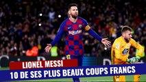 Messi et ses plus beaux coups francs !