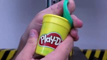 Pressing Play Doh Through Small Holes with HYDRAULIC PRESS 100 TON
