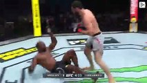 A Russian UFC fighter knocks out his rival with a devastating face kick
