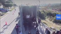 Turkey stops truck carrying 82 migrants bound for Europe