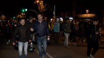 Manifestación de los CDR en Barcelona en apoyo al bloqueo de La Junquera de Tsunami Democràtic