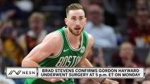 Brad Stevens Confirms Gordon Hayward Underwent Hand Surgery