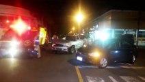 Passageiro de carro fica ferido após colisão com caminhonete