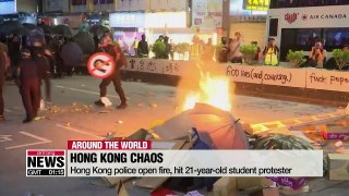 Hong Kong police open fire, hit 21-year-old student protester