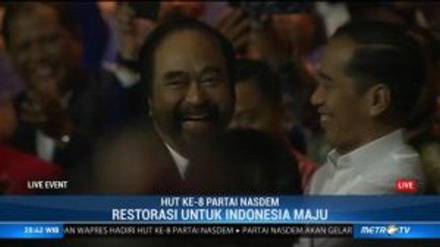 Cemburu dengan Presiden PKS, Jokowi Peluk Erat Surya Paloh