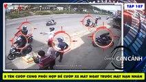 5 TÊN CƯỚP LIỀU LĨNH dàn cảnh cướp xe giữa ban ngày ngay khi NẠN NHÂN CÒN NGỒI TRÊN XE