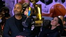 NBA - Le n°9 de Tony Parker sur le toit de San Antonio