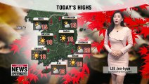 Typical late autumn weather, major cold snap for Suneung