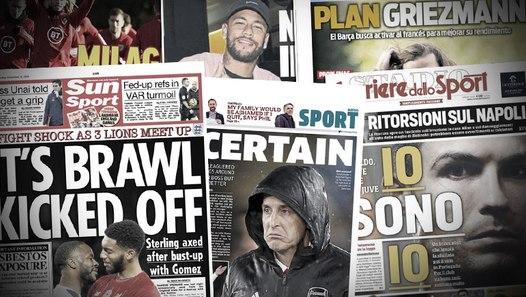 Les 3 problèmes d'Antoine Griezmann au Barça, la bagarre entre Sterling et Gomez continue en sélection anglaise