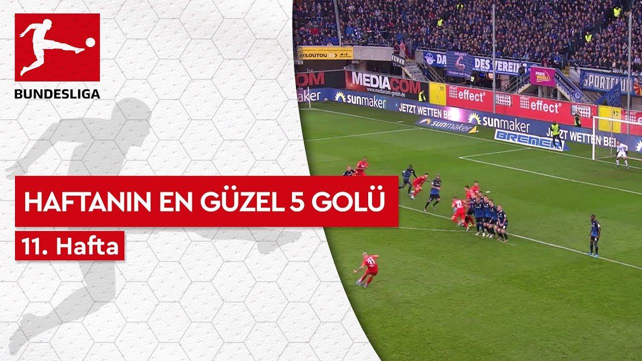 Bundesliga'da 11. Haftanın En Güzel 5 Golü (2019/20)