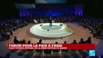 REPLAY - Discours d'Emmanuel MACRON lors de la 2e édition du Forum sur la paix