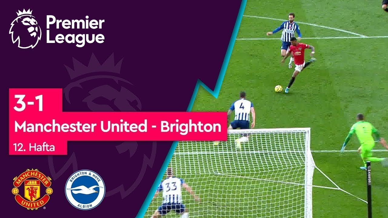 Manchester United - Brighton (3-1) - Maç Özeti - Premier League 2019/20
