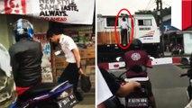 Viral, masinis jajan di warung pakai lokomotif - TomoNews